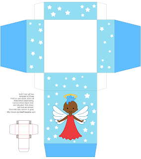 Free printable angel box- available in other colors and styles.