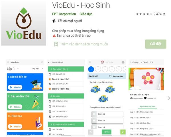 Tải VioEdu - Ứng dụng học, thi Toán trực tuyến trên vio.edu.vn f