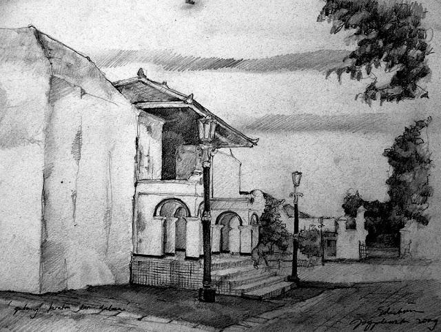 Sketsa Gerbang Keraton Jogjakarta Dari Dalam