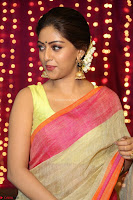 Anu Emmanuel sizzles in khaki saree at Zee Telugu Apsara Awards 2017 06.JPG