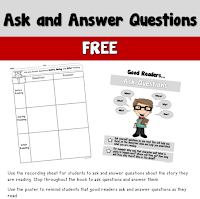 Free Ask and Answer Poster and Recording Sheet