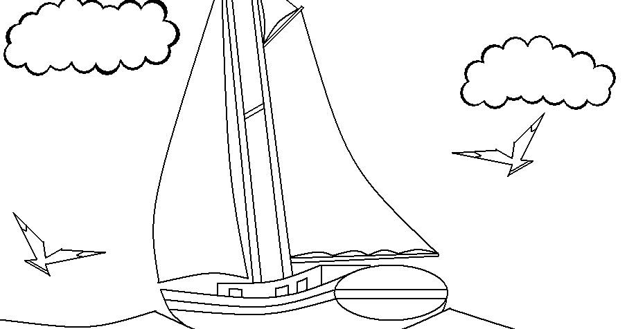 Arte No Paint: Desenho Para Colorir: Barco A Vela