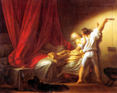 The Bolt by Jean-Honoré Fragonard