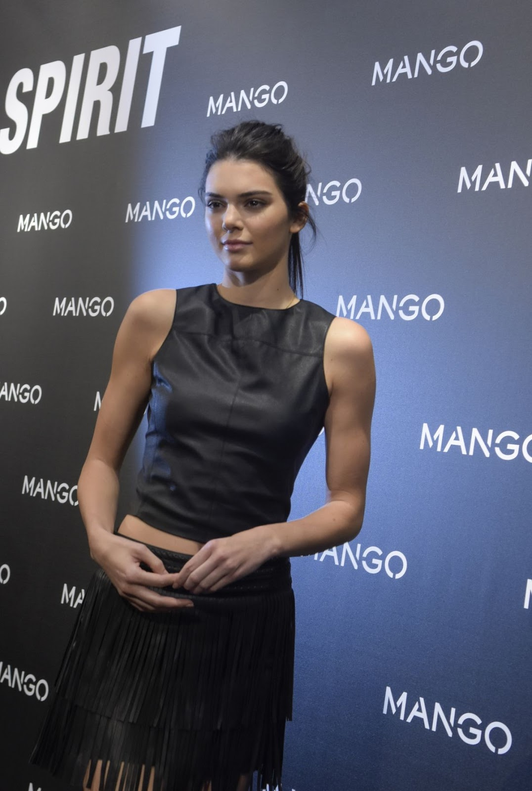 Frontrow & Mango Photocall of Kendall Jenner at Tribal Spirit in Barcelona