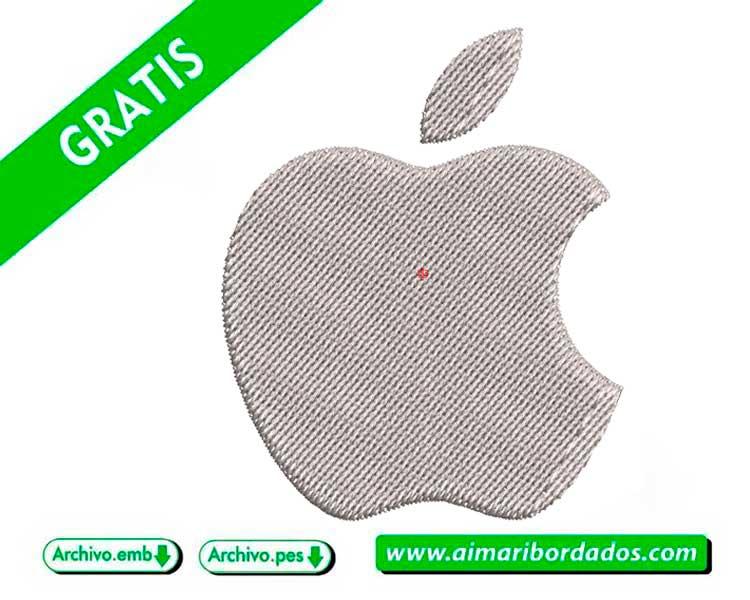 Logo Apple para bordar a máquina DESCARGA GRATIS