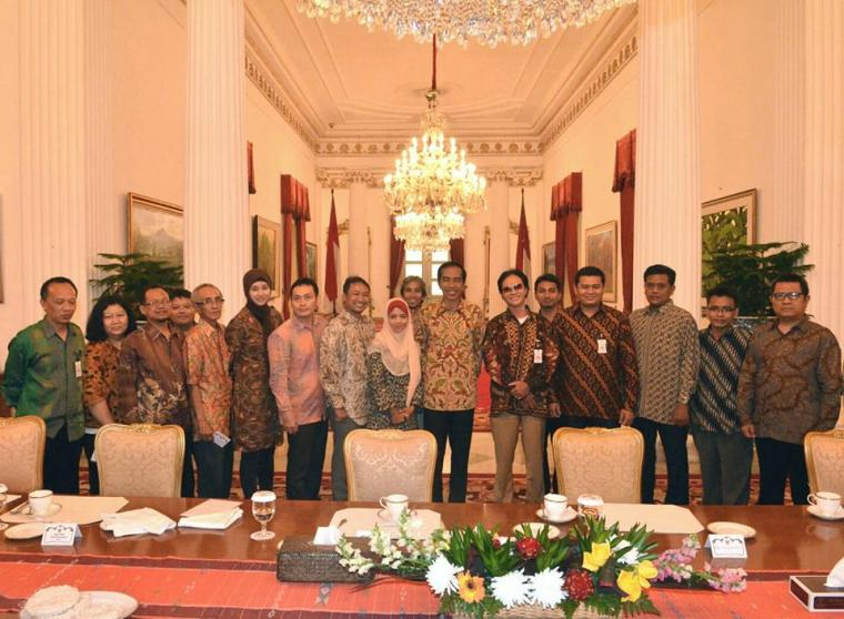 Alifurahman bersama Jokowi