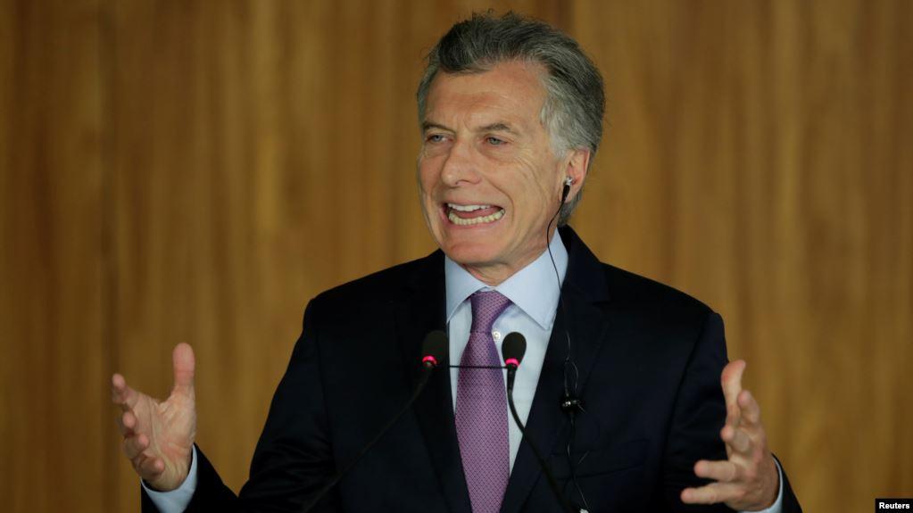 El mandatario argentino, Mauricio Macri, piensa que es hora de