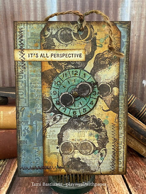 Book Covers Stampers Anonymous Tim Holtz Cling Rubber Stamp Set