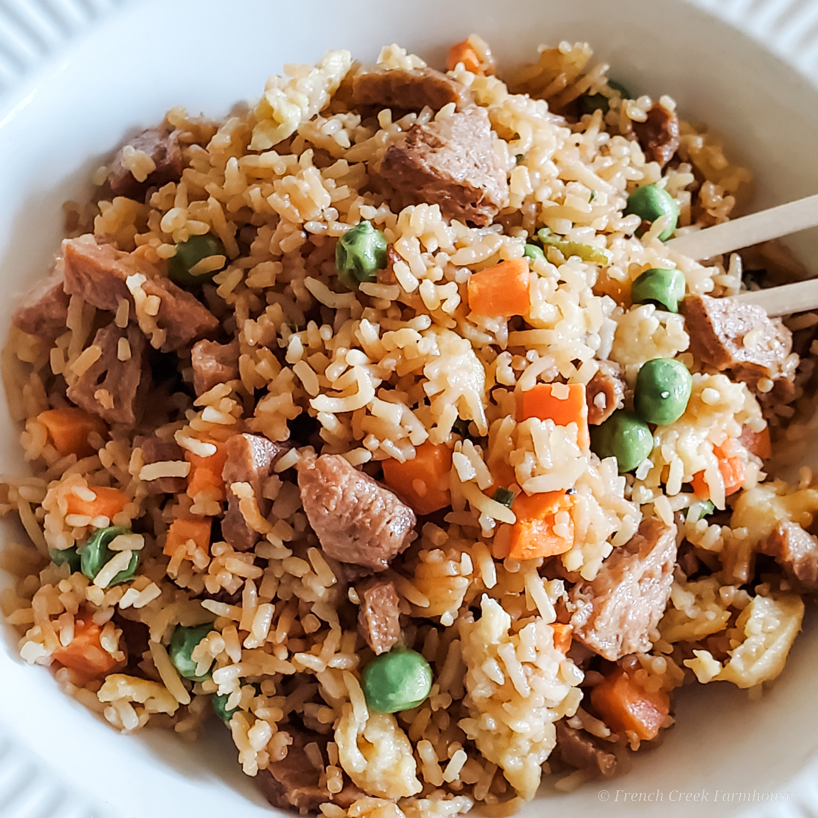 Delicious fried rice in only 20 minutes!