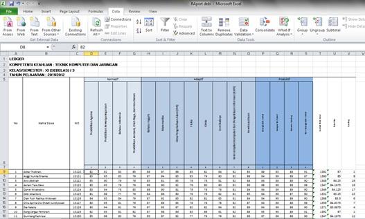Legger Untuk Raport Excel