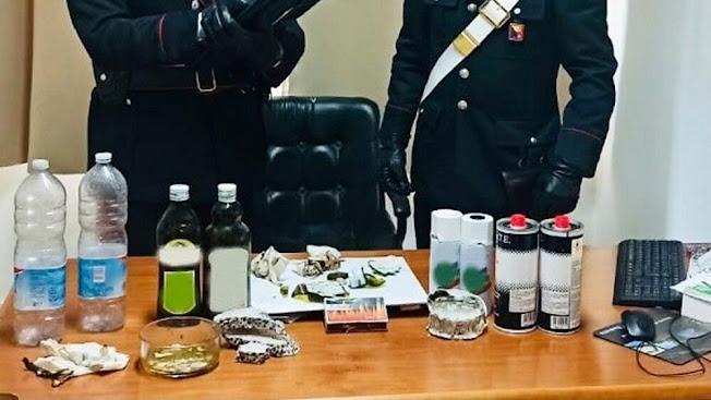 MISILMERI (PA): fabbricava bottiglie molotov, arrestato un pensionato