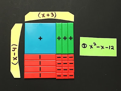 how to use algebra tiles to factor quadratic trinomials
