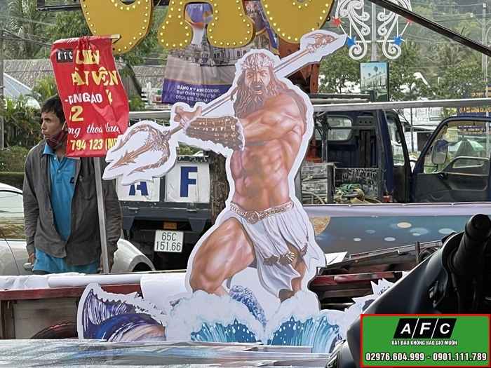 Thi công Biển quảng cáo in 3D ngoài trời tại Phú Quốc