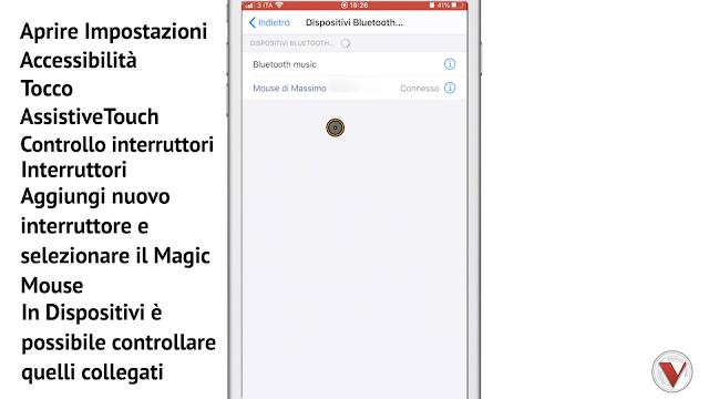 Collegare Magic Mouse ad iPhone - iOS 13