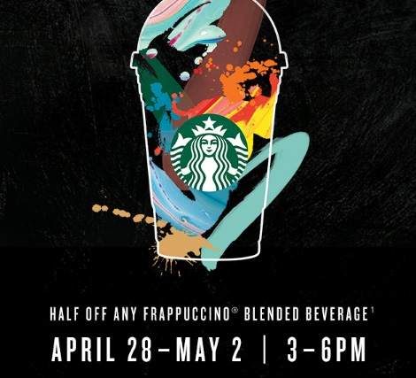 Starbucks Half Off Frappuccino Blended Beverage Early Access Advance Sale