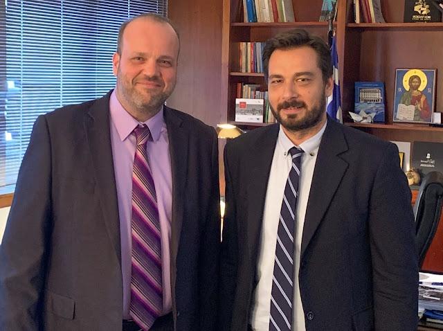 Με τον Διοικητή του ΟΑΕΔ Σπυρίδωνα Πρωτοψάλτη συναντήθηκε ο βουλευτής Ημαθίας Τάσος Μπαρζώκας.