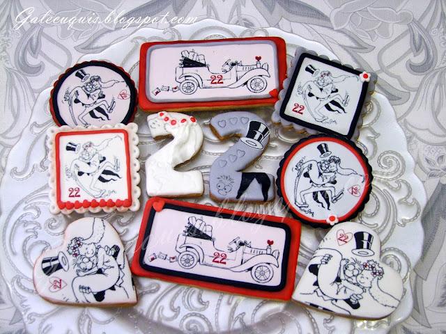 Galletas decoradas aniversario bodas