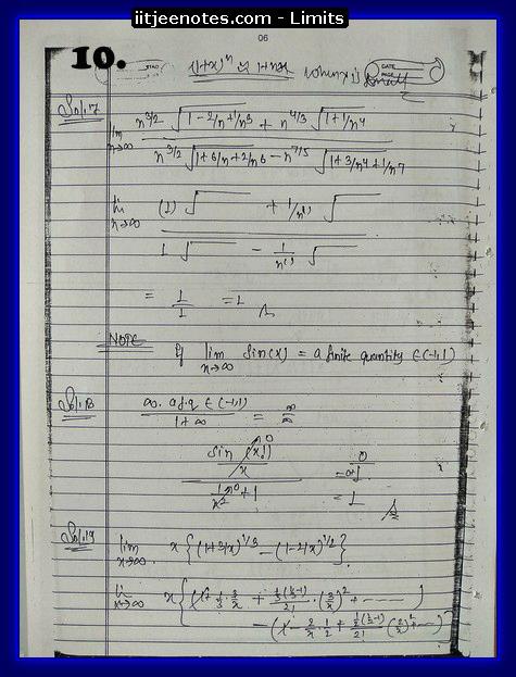 limit notes