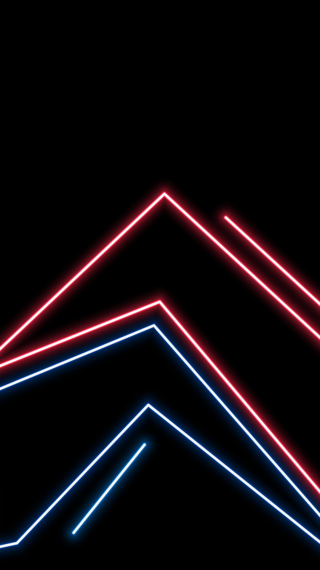 Amoled wallpaper neon lines