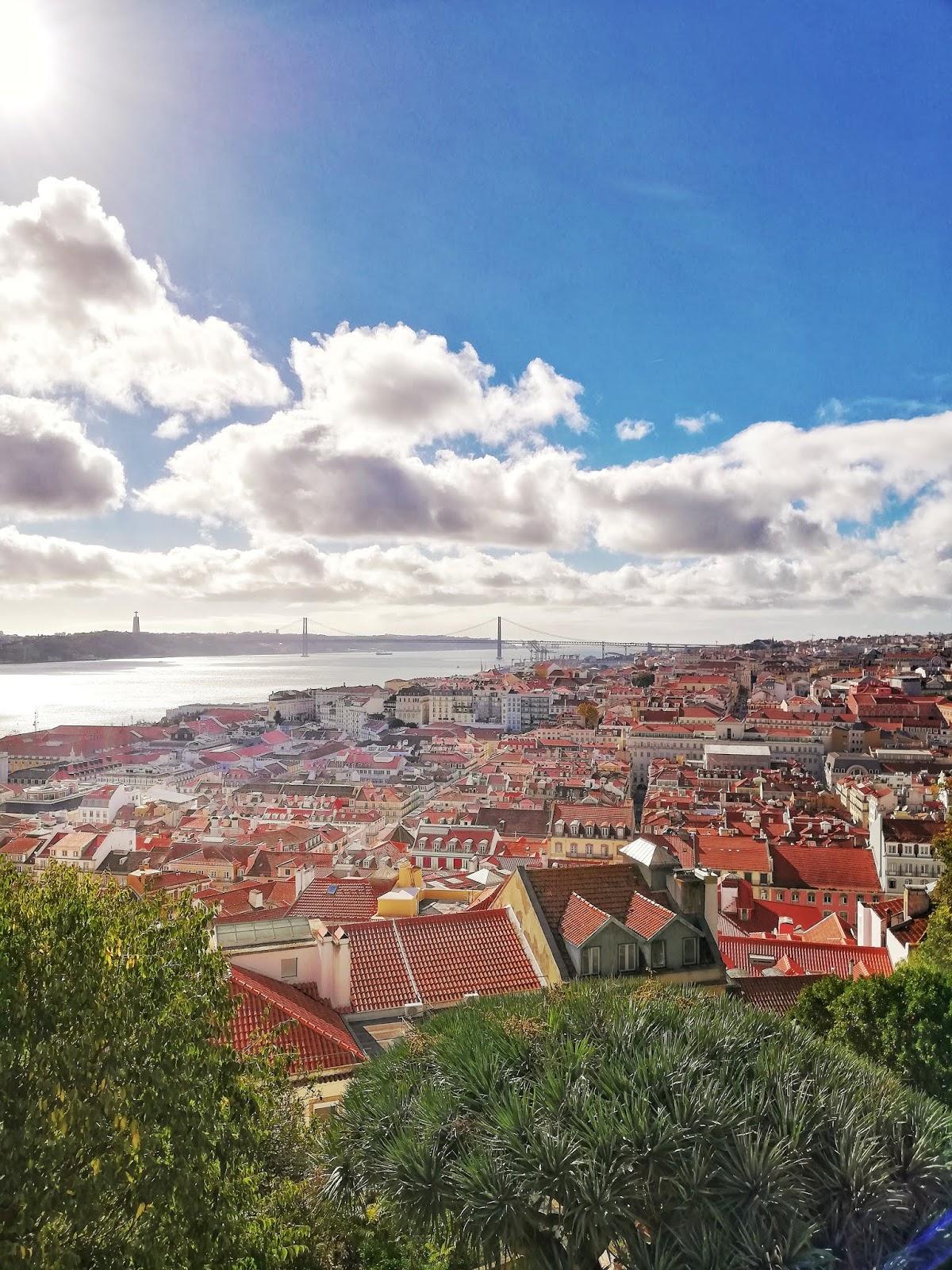 Vue du château Saint George Lisbonne