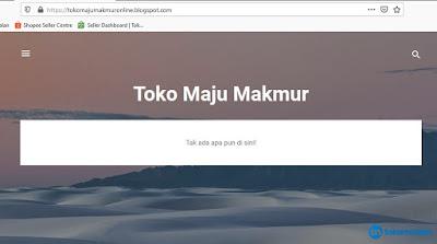 Tampilan Toko Online Default