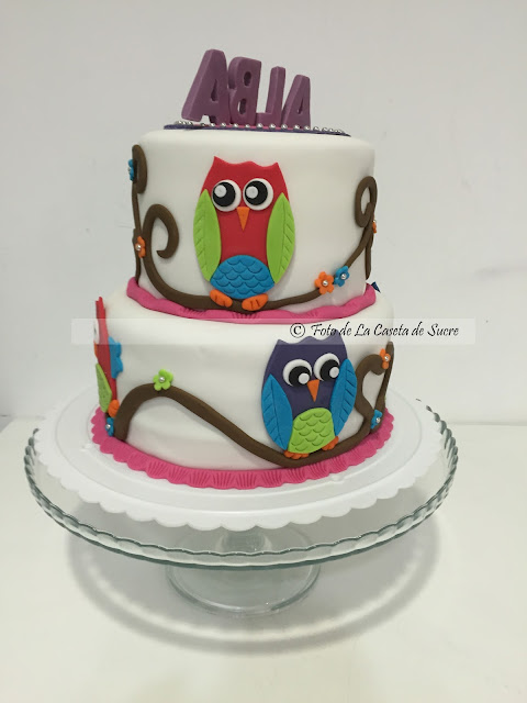 tarta buhos owl cake 1