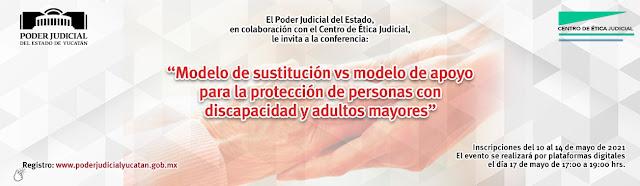 Invita Poder Judicial a conferencia sobre protección a las personas con discapacidad y adultas mayores