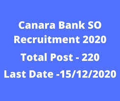 Canara Bank SO Recruitment 2021,Canara Bank SO Recruitment,Canara Bank,CanaraBank.Com,Canara Bank SO Recruitment 2021 Notification
