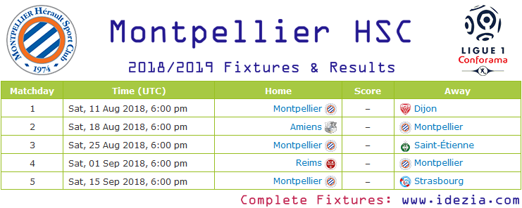 Download Full Fixtures PNG JPG Montpellier 2018-2019