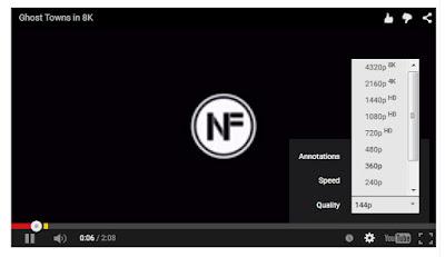 Video Youtube 8 K