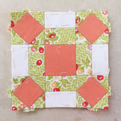The Farmer's Wife Sampler Quilt (20's) Block 80 Single Wedding Star