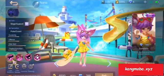 Script Skin Nana Sundress Special Summer 2020 Full Effect Mobile Legends