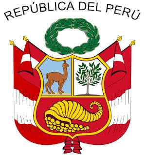 Dibujo del Gran Sello de ls República del Perú a colores