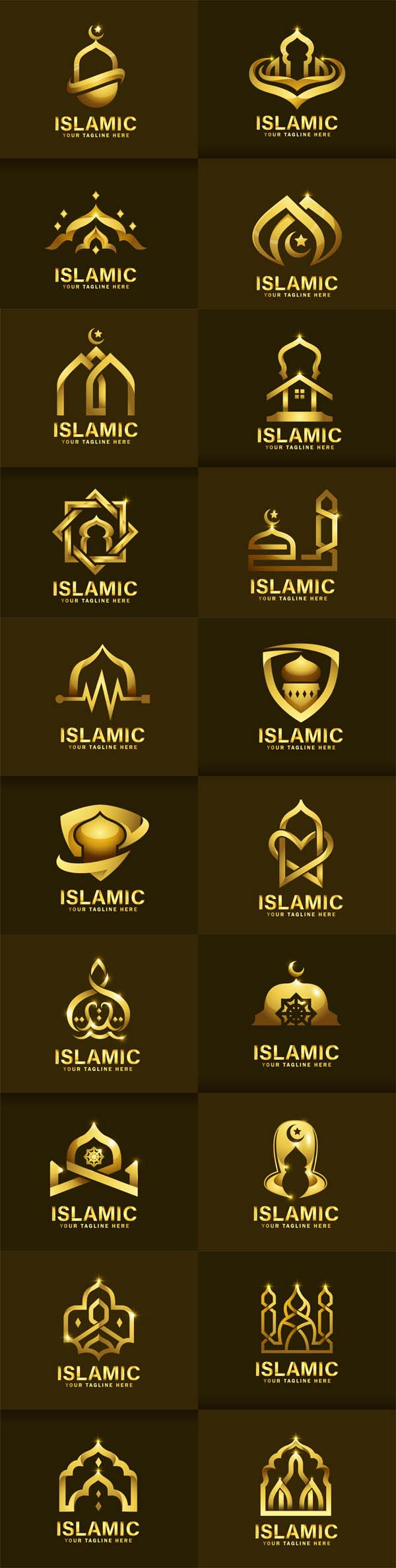 Luxurious Islamic Logo Vector Template