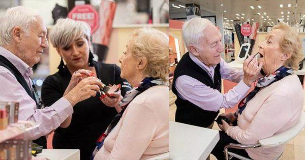 84χρονος άντρας έκανε μαθήματα μακιγιάζ για να μπορεί να βάφει την σύζυγό του που σύντομα θα μείνει τυφλή