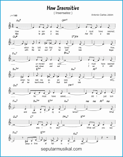 chord how insensitive / insensatez lagu jazz standar