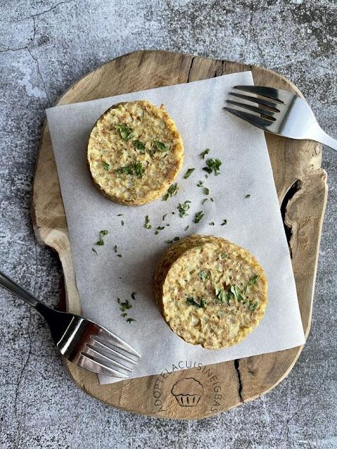 Galettes de chou-fleur au parmesan  - IG bas
