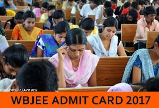 WBJEE Admit Card 2017, Manabadi WBJEE 2017 Admit Card, WBJEE Hall Ticket 2017