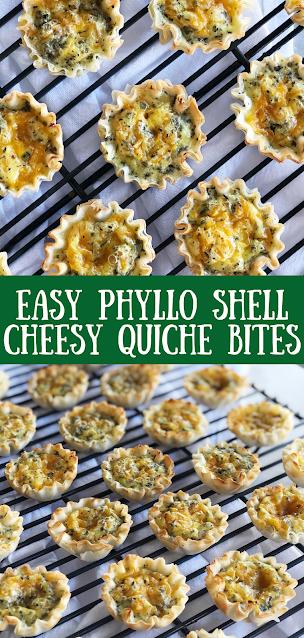 Phyllo Shell Quiche Bites