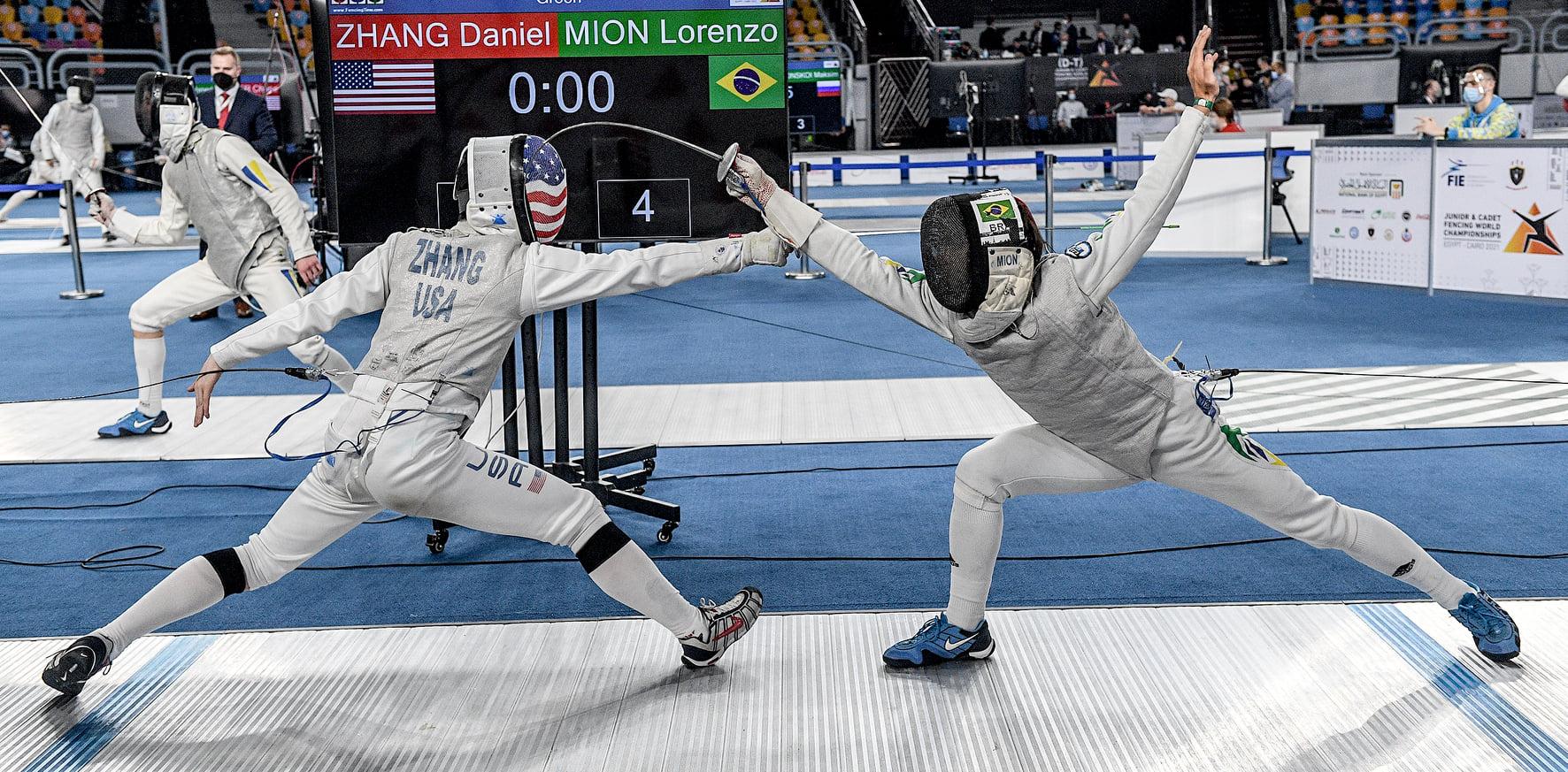 brasileiro mundial de esgrima Daniel Zhang Lorenzo Mion fencing brazil world championships