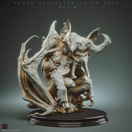 Zhelong Xu artstation arte esculturas modelos 3D fantasia chinesa mitologia