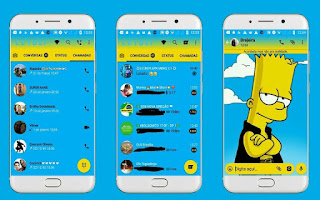 Bart Theme For GBWhatsApp By Leideh