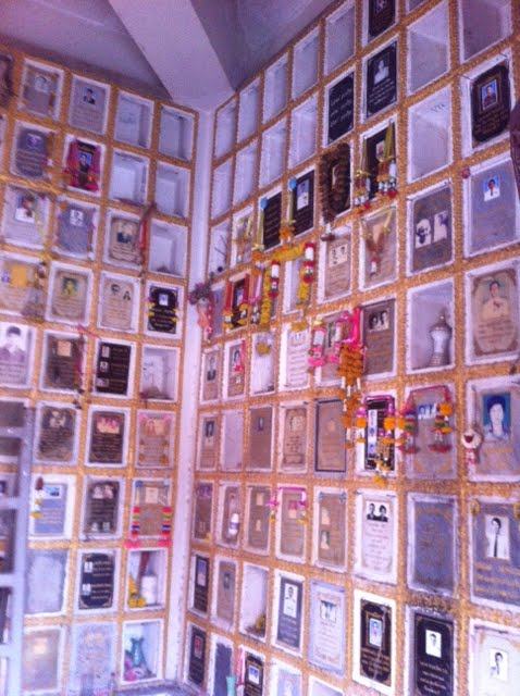 Wall of memories at a temple in Khon Kaen