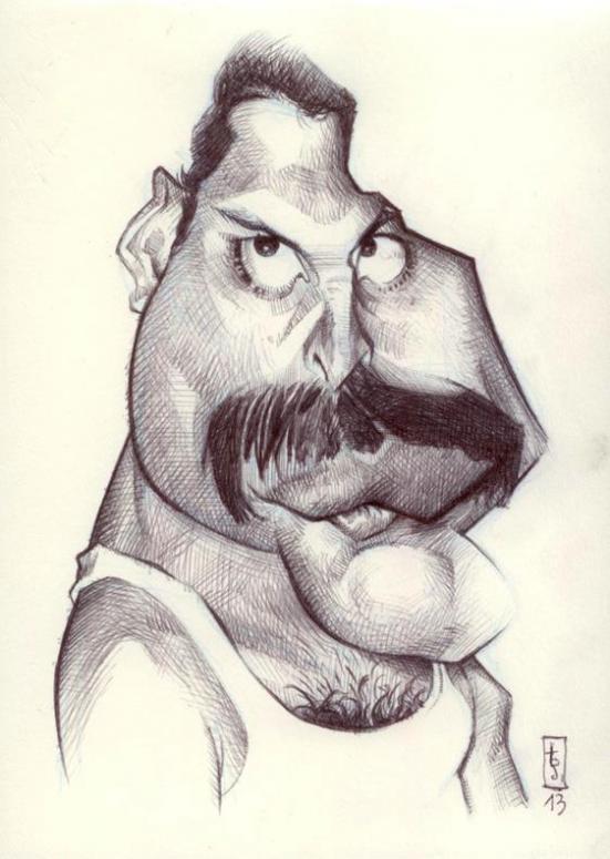"""""""Freddie Mercury"""" por Bruno Tesse"""