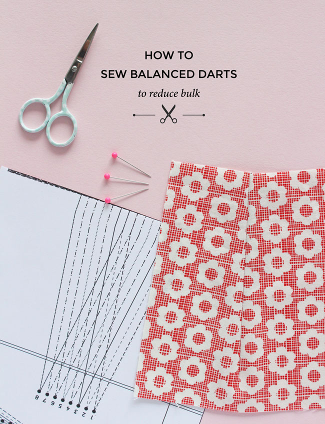 How to sew balanced darts - a great way of reducing bulk in darts - Tilly and the Buttons