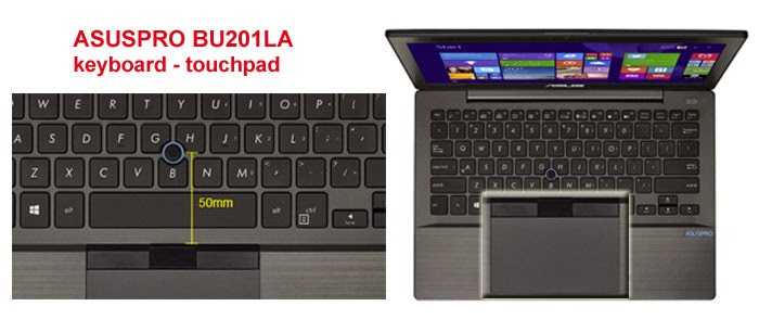 Keyboard  ASUSPRO BU201LA ergonomis
