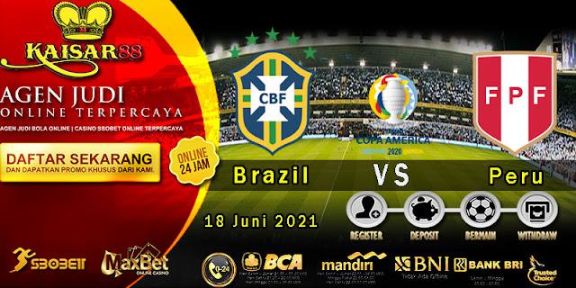 Prediksi Bola Terpercaya Laga Copa America Brazil vs Peru 18 Juni 2021