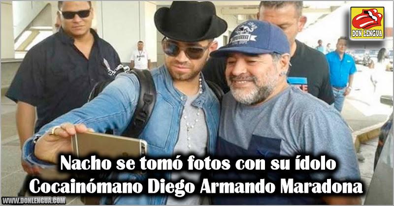 Nacho se tomó fotos con su ídolo Cocainómano Diego Armando Maradona