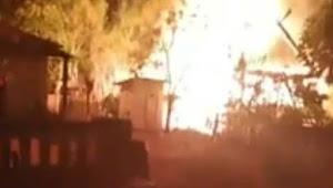 Rumah Mantan Kades Bungaiya Selayar Ludes Dilalap Si Jago Merah