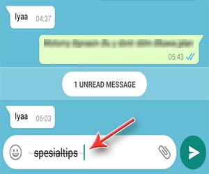 Bentuk Huruf Dengan Coretan Di Tengah (Strikethrough) WhatsApp